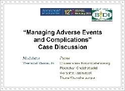 Case-based panel discussion 3: Managing adverse effects and complications