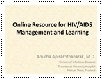 Online resource for HIV/AIDS management and learning