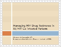 Managing HIV Drug Resistance in TB/HIV Co-infected Patients
