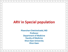 ARV in special population