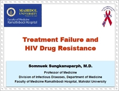 Treatment failure and HIV drug resistance