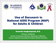 Use of darunavir in National AIDS Program (NAP) for adults & children