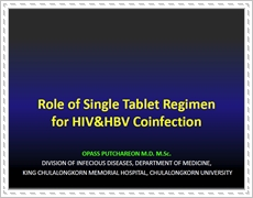 Role of Single Tablet Regimen for HIV&HBV Coinfection