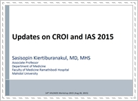 Updates on CROI and IAS 2015